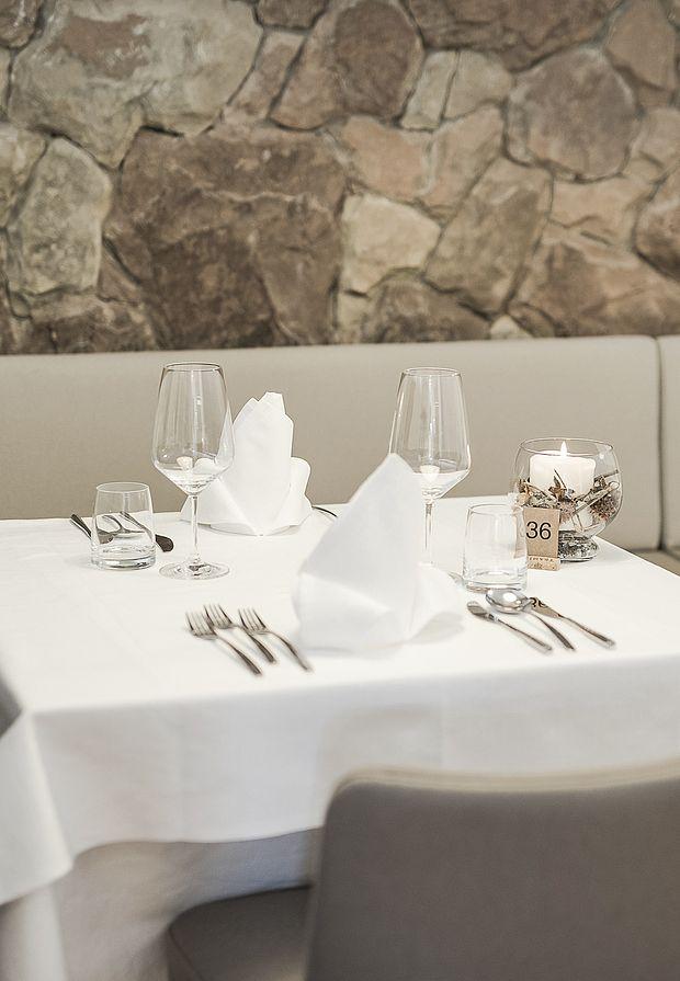 Restaurant mit gehobener Südtiroler Gasthofküche