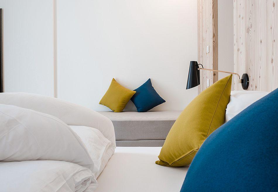 Hospitium Zimmer mit Farbkonzept