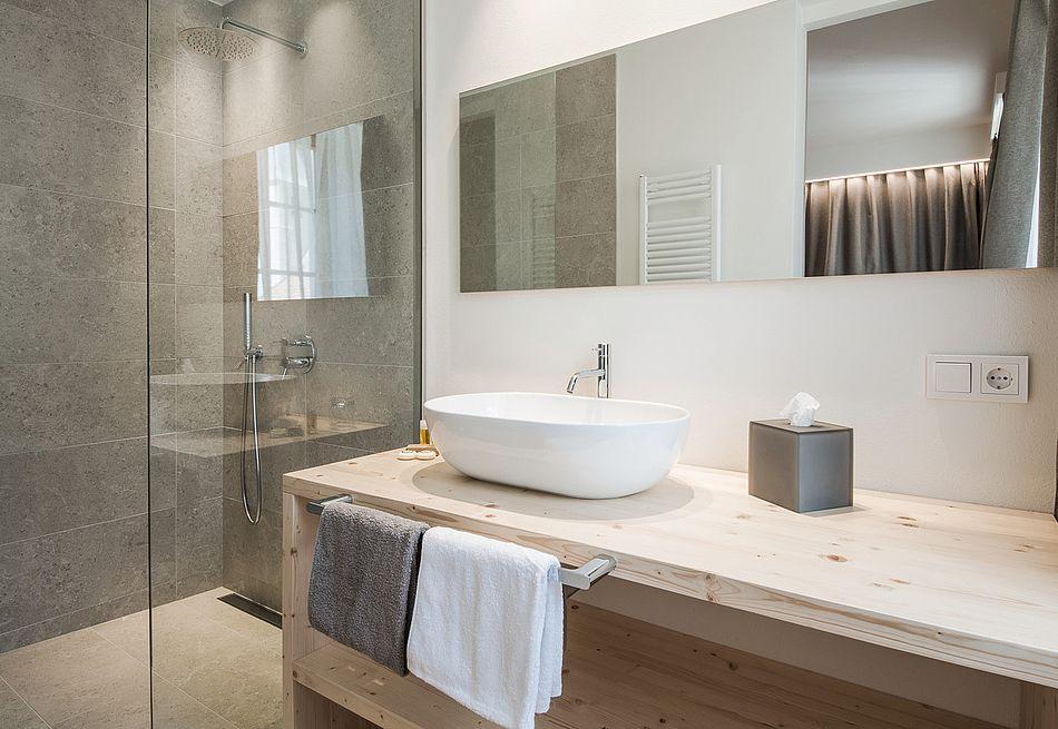 Badezimmer Hospitium Zimmer