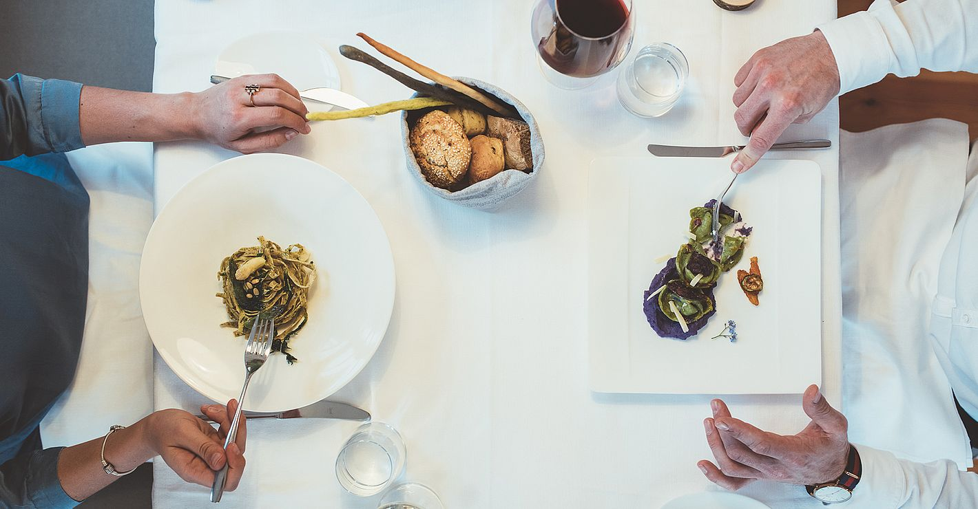 gehobene Südtiroler Gasthofküche im Restaurant Cervo